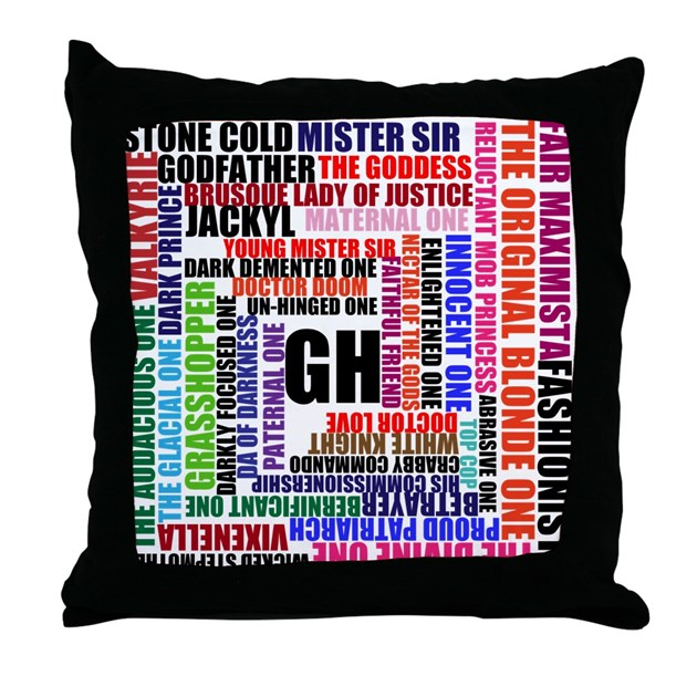 Throw Pillows Dollar General : SPINELLI Throw Pillow GENERAL HOSPITAL by UNLEASHED_MIA