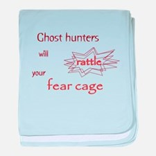 Ghost Hunters Rattle Fear Cages baby blanket