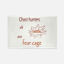 Ghost Hunters Rattle Fear Cages Rectangle Magnet