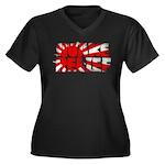 Quake Relief Women's Plus Size V-Neck Dark T-Shirt
