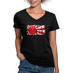 Quake Relief Women's V-Neck Dark T-Shirt