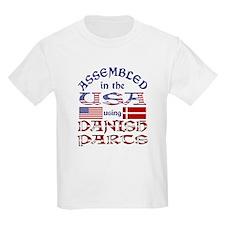 USA / Danish Parts Kids T-Shirt