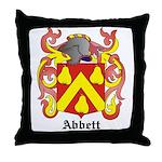 Abbett Coat of Arms Throw Pillow