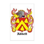 Abbett Coat of Arms Mini Poster Print