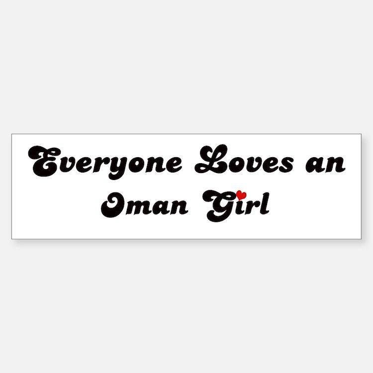 Loves Oman Girl Bumper Bumper Bumper Sticker