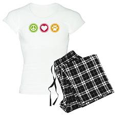 Peace - Love - Dogs Pajamas