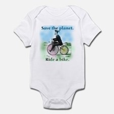 Save the Planet Ride a Bike Infant Bodysuit