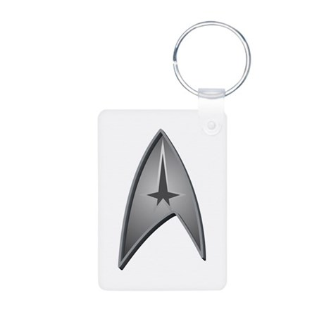 Star Trek Logo silver Aluminum Photo Keychain