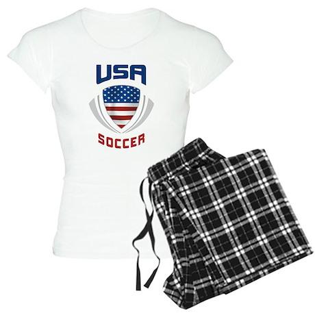Soccer Crest USA blue Women's Light Pajamas