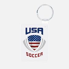 Soccer Crest USA blue Keychains