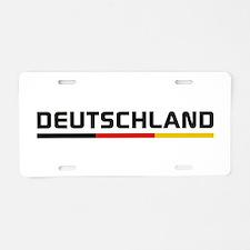 Soccer DEUTSCHLAND Stripe Aluminum License Plate