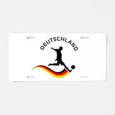 Soccer DEUTSCHLAND Player Aluminum License Plate