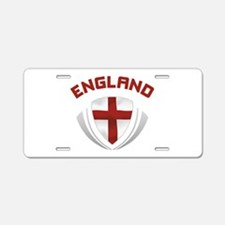 Soccer Crest ENGLAND red Aluminum License Plate