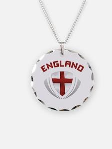 Soccer Crest ENGLAND red Necklace