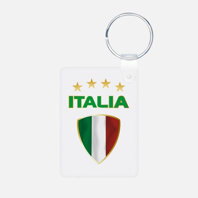Soccer Crest ITALIA gold Keychains