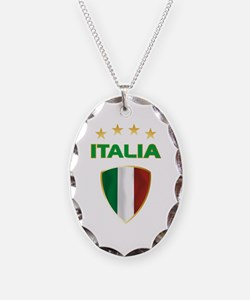 Soccer Crest ITALIA gold Necklace