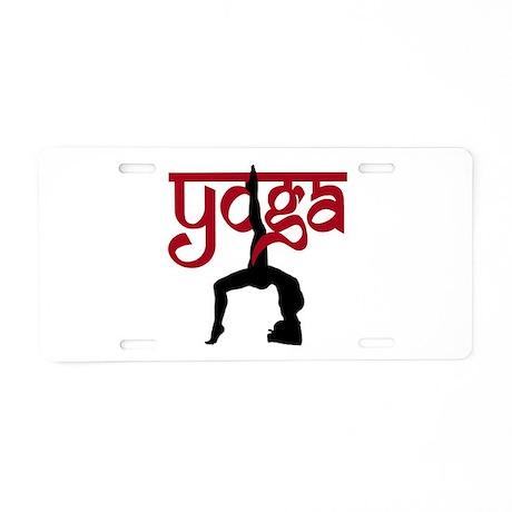Yoga One-Legged Bridge Pose Aluminum License Plate