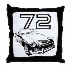 1972 MG Midget Throw Pillow