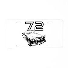 1972 MG Midget Aluminum License Plate