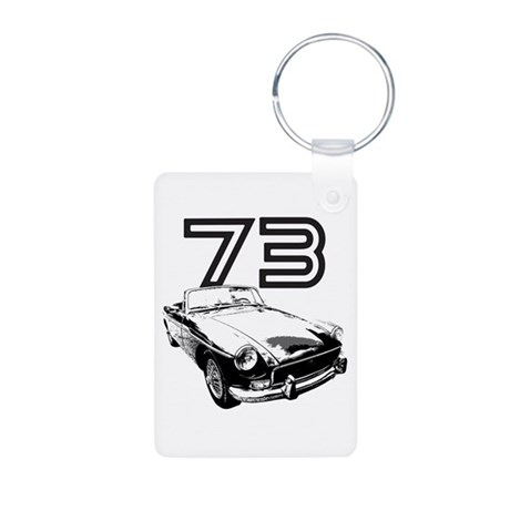 1973 MG Midget Aluminum Photo Keychain