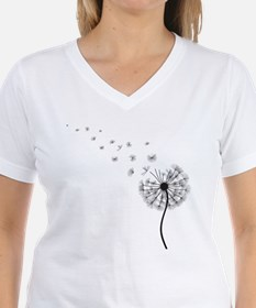 Blowing Dandelion Black Shirt