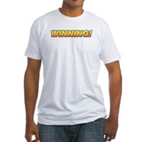 Charlie Winning! Fitted T-Shirt