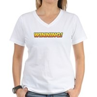Charlie Winning! Women's V-Neck T-Shirt