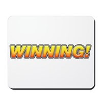 Charlie Winning! Mousepad