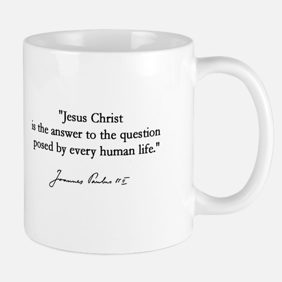 Pope John Paul the Great Signature Mug - Jesus
