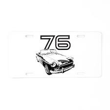 1976 MG Midget Aluminum License Plate