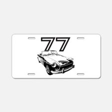 1977 MG Midget Aluminum License Plate