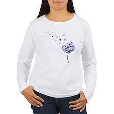 Blowing Dandelion Colorful T-Shirt
