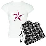 Nautical star pink Women's Light Pajamas