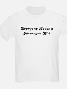 Loves Nicaragua Girl Kids T-Shirt