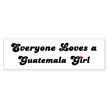 Loves Guatemala Girl Bumper Sticker