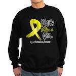 Endometriosis Fight-Like-Girl Sweatshirt (dark)