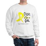 Endometriosis Fight-Like-Girl Sweatshirt