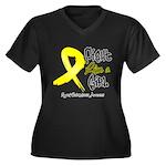 Endometriosis Fight-Like-Girl Women's Plus Size V-