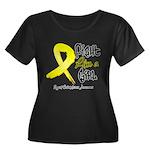Endometriosis Fight-Like-Girl Women's Plus Size Sc