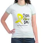Endometriosis Fight-Like-Girl Jr. Ringer T-Shirt