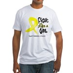 Endometriosis Fight-Like-Girl Fitted T-Shirt