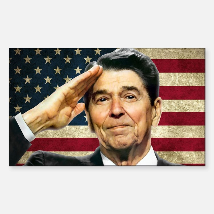 Reagan Salute... Sticker (Rectangle)