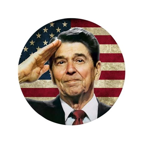 "Reagan Salute... 3.5"" Button (100 pack)"