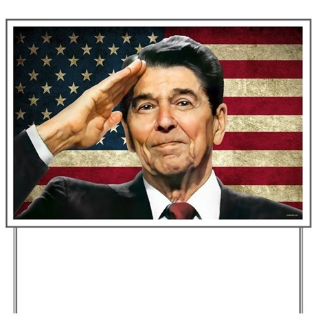 Reagan Flag... Yard Sign