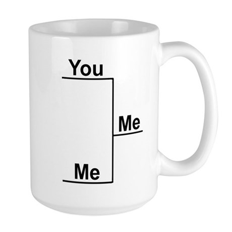 You versus Me Bracket Large Mug