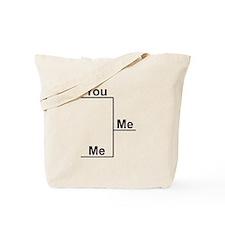 You versus Me Bracket Tote Bag