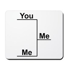 You versus Me Bracket Mousepad