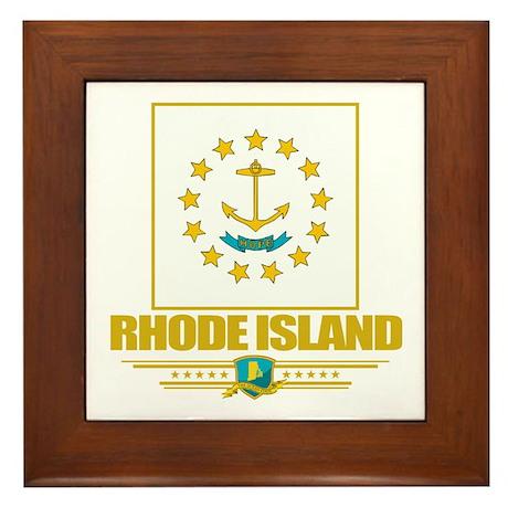 Rhode Island Pride Framed Tile