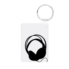 Headphones in Silhouette Keychains
