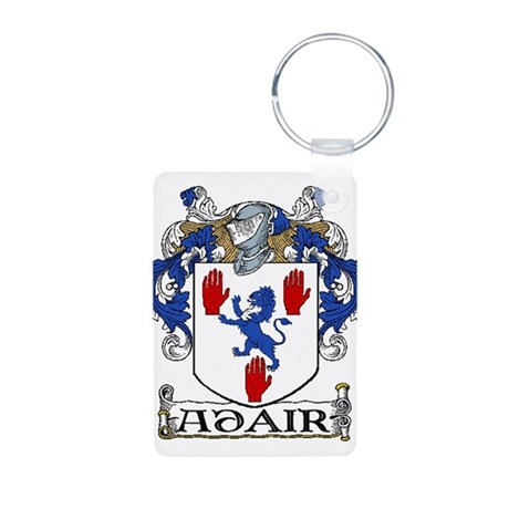 Adair Coat of Arms Aluminum Photo Keychain
